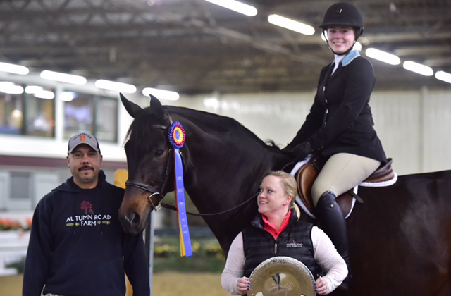 Emily Yslas and McLovin winners of the NAL Adult Hunter Classic at Ledges