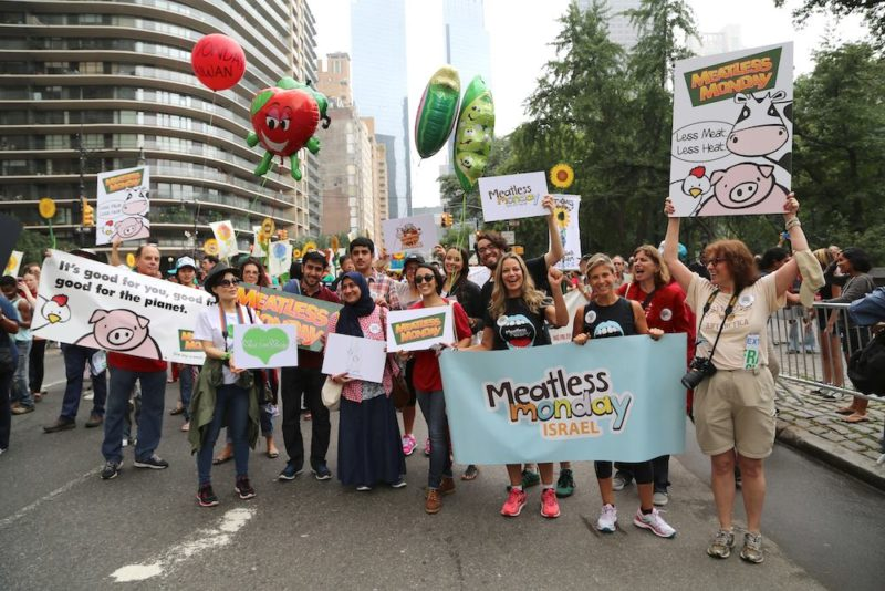 NYC Climate March with Meatless Monday Global Partners