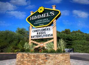 Himmel's, Landscape & Garden Center, Gable signage,
