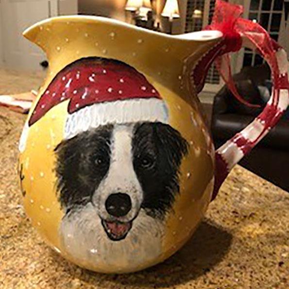 Pet Dog Santa Pitcher