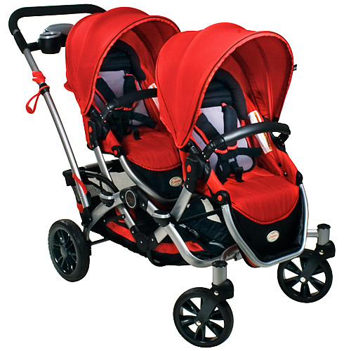 This double stroller is a great item when needing to rent child care equipment.