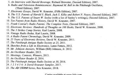 Our Publications, 1 through 25