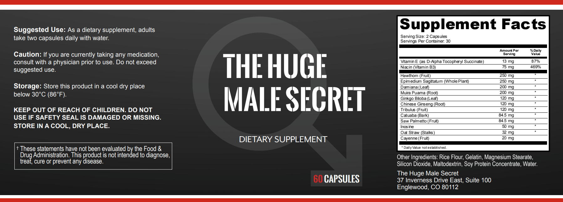 Huge Male secret Ingredients