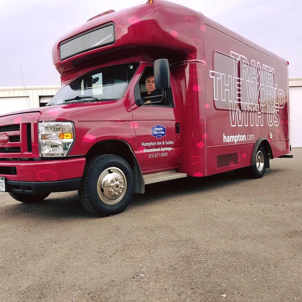 Vehicle Wrap shuttle bus