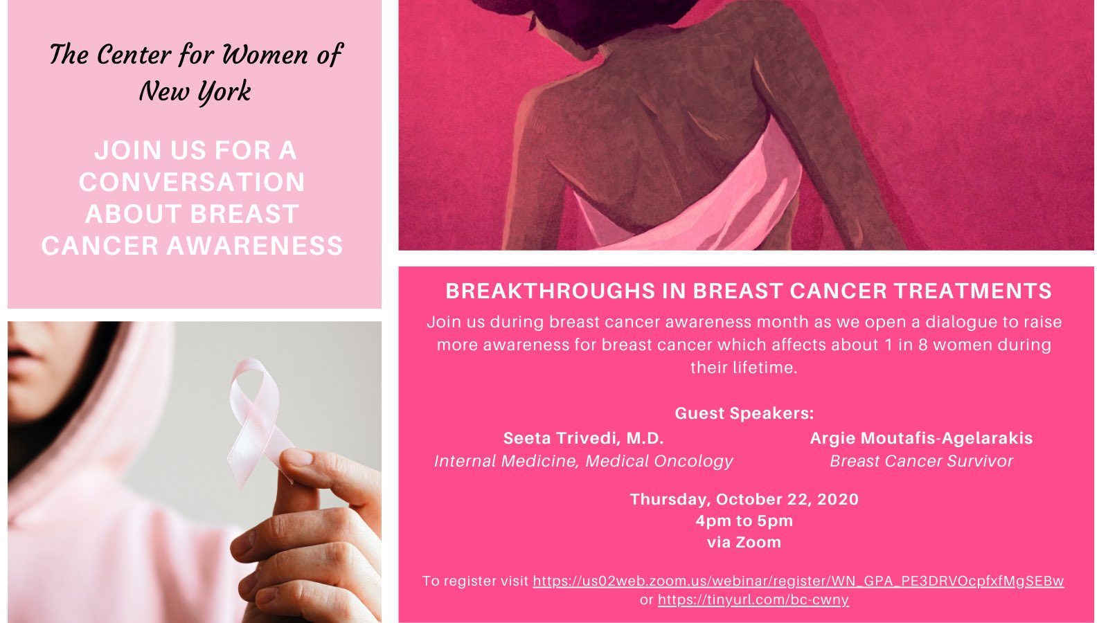 Flyer for Breakthroughs in Breast Cancer Treatments