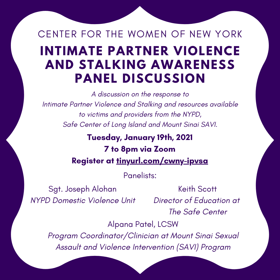 Intimate Partner Violence and Stalking Panel Discussion @ Zoom