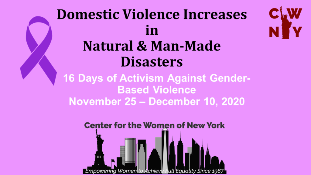 Thumbnail for CWNY Report: Domestic Violence Increases in Natural and Man-Made Disasters