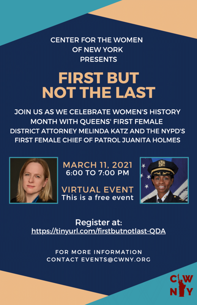 """First But Not the Last"" webinar flyer"