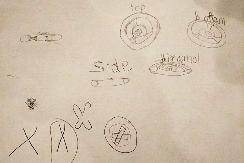 Sketch of the fidget spinner