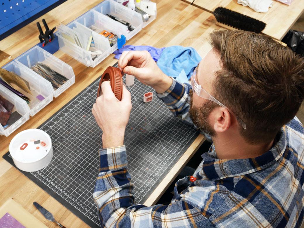 Engenious Design Jobs: Mode; Shop Maker Prepping A Prototype