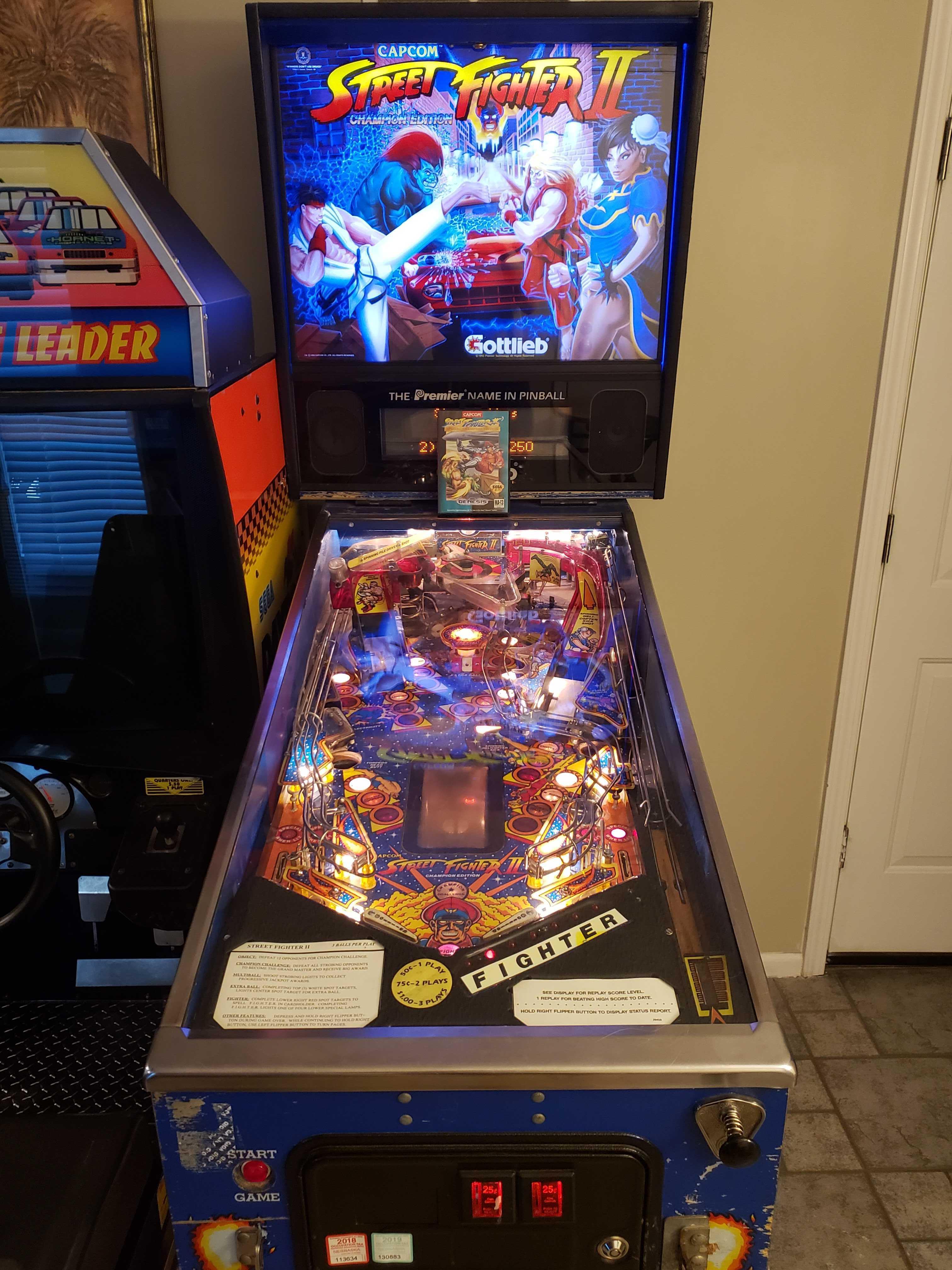 Arcade Cabinet Restoration of Streetfighter Pinball