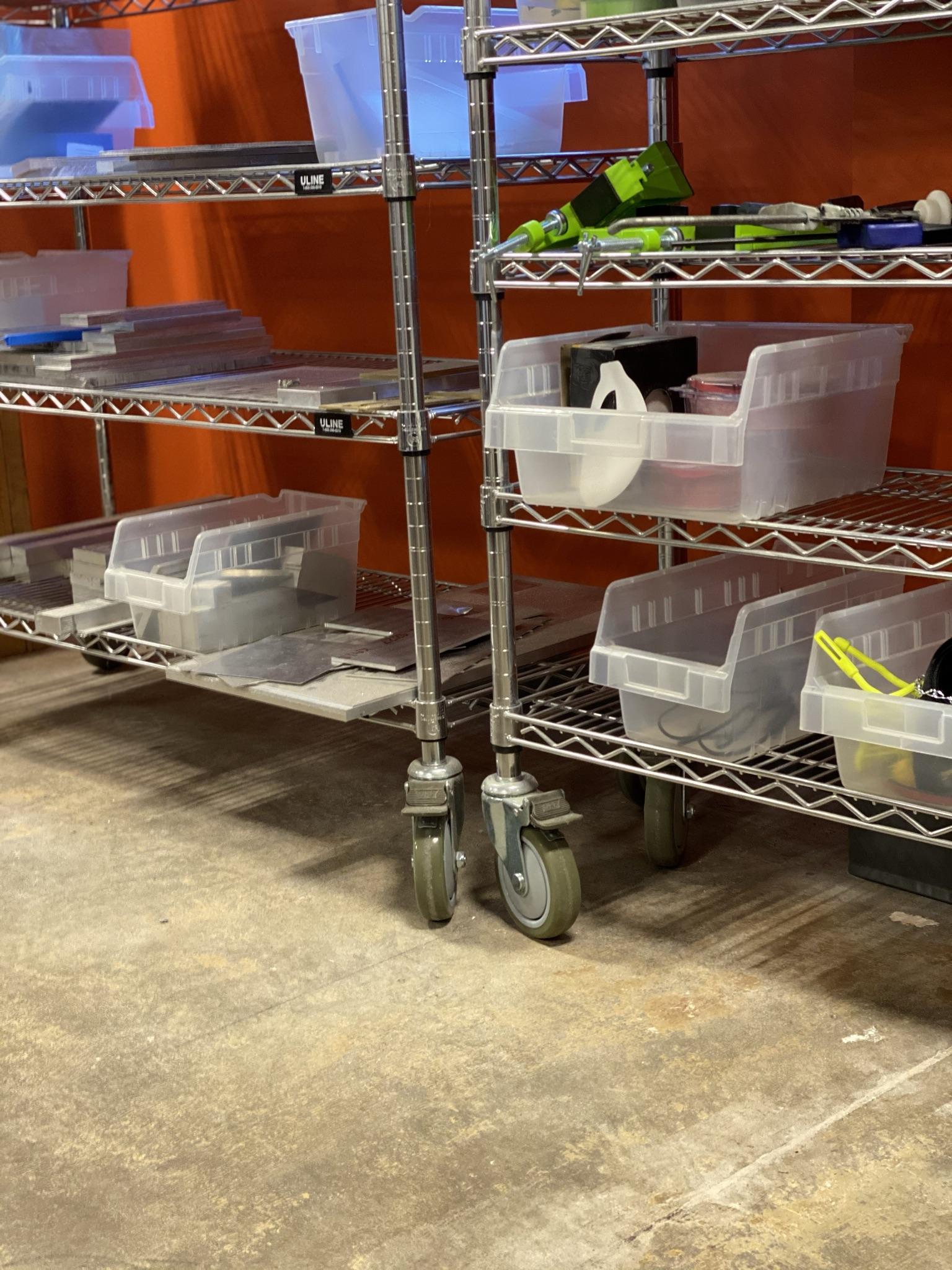 Agile Workspace - Tool Storage On Wheels