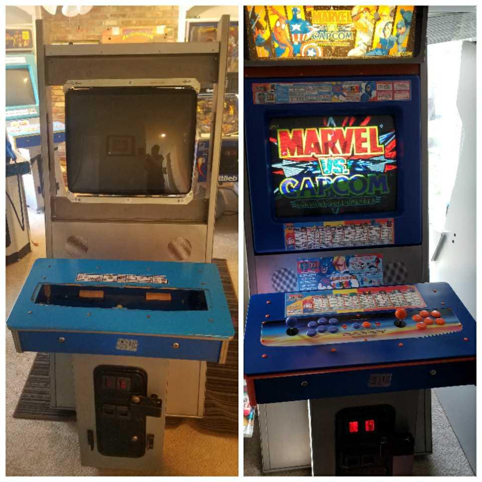 Arcade Cabinet Restoration Marvel vs. Capcom