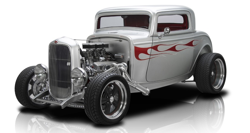 """1932 Ford 3-Window Frame Off Built 3 Window Coupe 350 V8 700R4 4 Speed Automatic Ford 9"""" 3.89 A/C"""