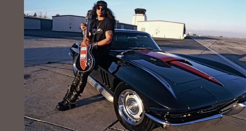 Guns N' Roses guitarist Slash and his 1966 Corvette Coupe