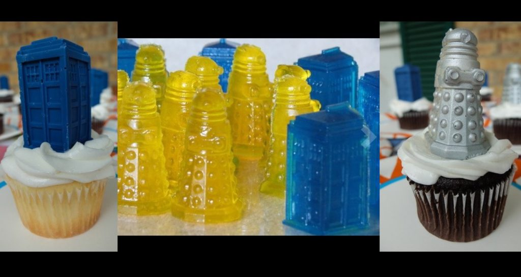 Doctor Who Silicone Ice Cube Tray Tardis & Daleks Creations
