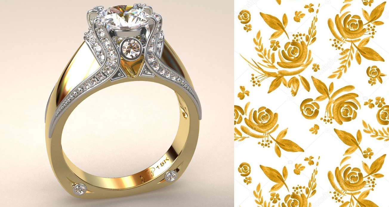 Italian Top Ladies Diamond and 18k Ring