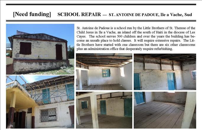 ProjectsCurrent - StAntoineIleAVacheSchool