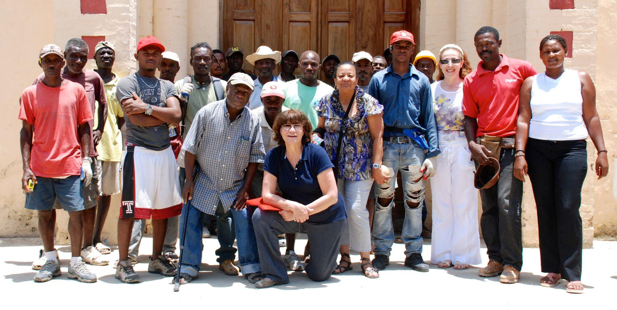 Working on St. Jean Baptiste in Anse d'Hainault