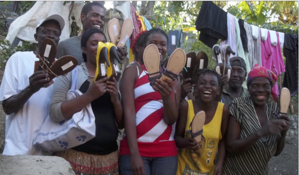 Donations of sandals by Fief Company