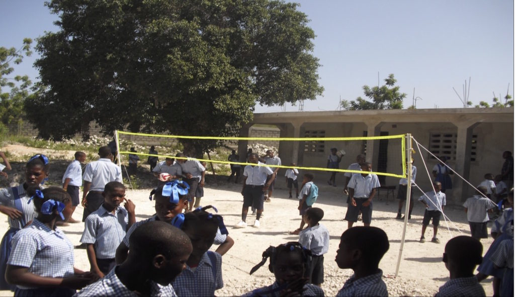 Volley ball in Cayemites (St Luke Giving Tree)