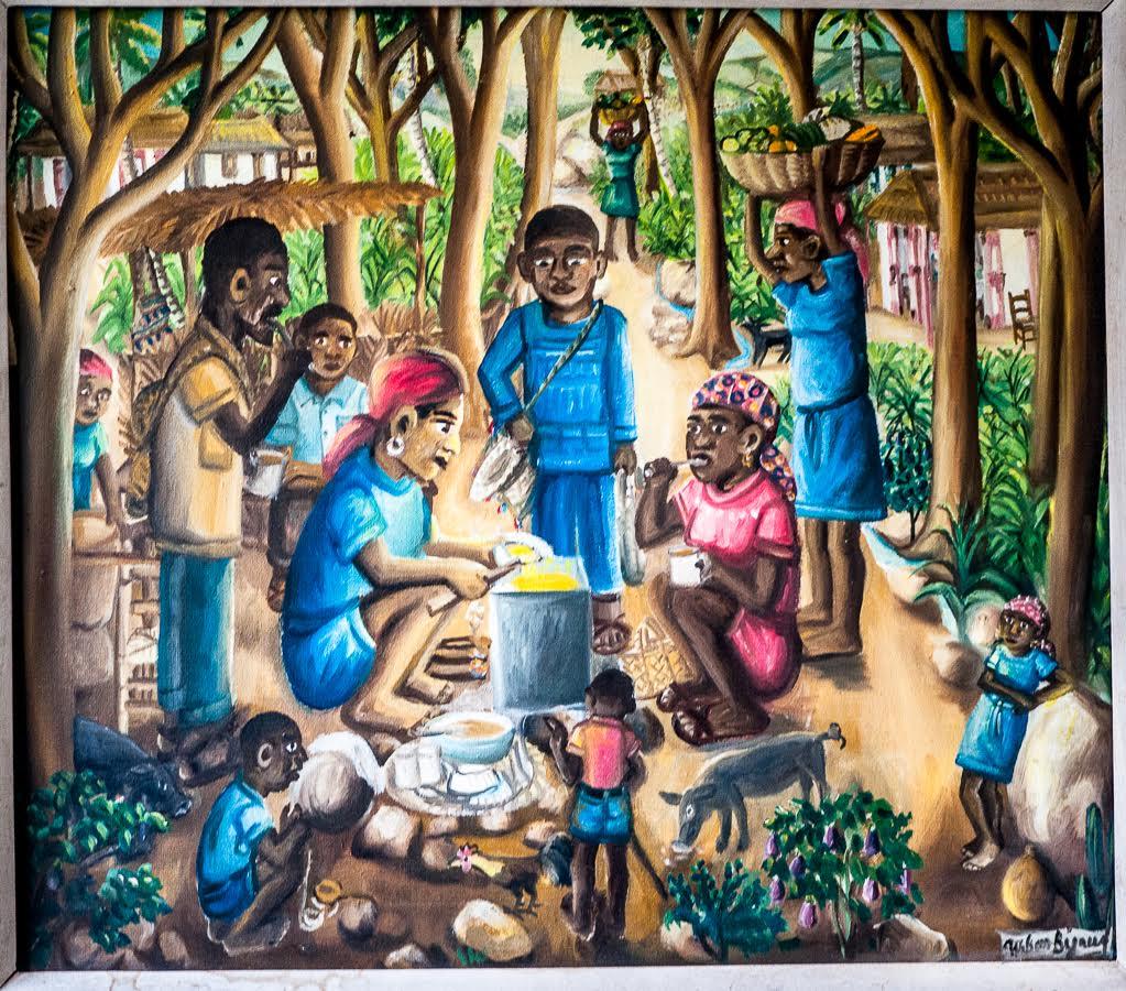 Family breakfast 24x27 1976 Bigaud