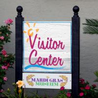 Visitors Center sign 7634
