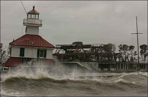 New Canal Lighthouse Museum taken during the storm Source: boston.com