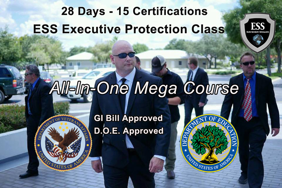 GI Bill Approved Executive Protection Schools in Florida - 28 day Mega Course