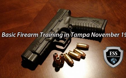 Basic Firearm Training in Tampa November 19