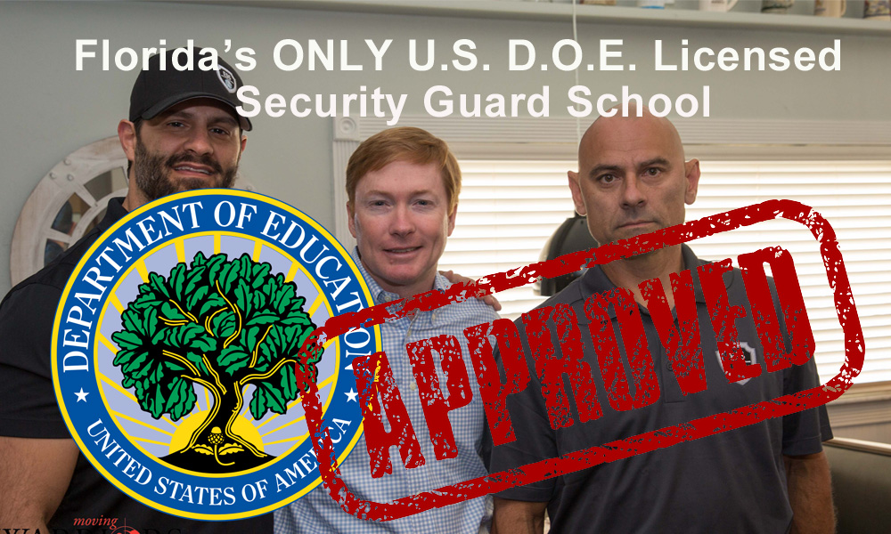 G Security License Training in Tampa November 13-15 at the ONLY D.O.E. Approved Security School in Florida