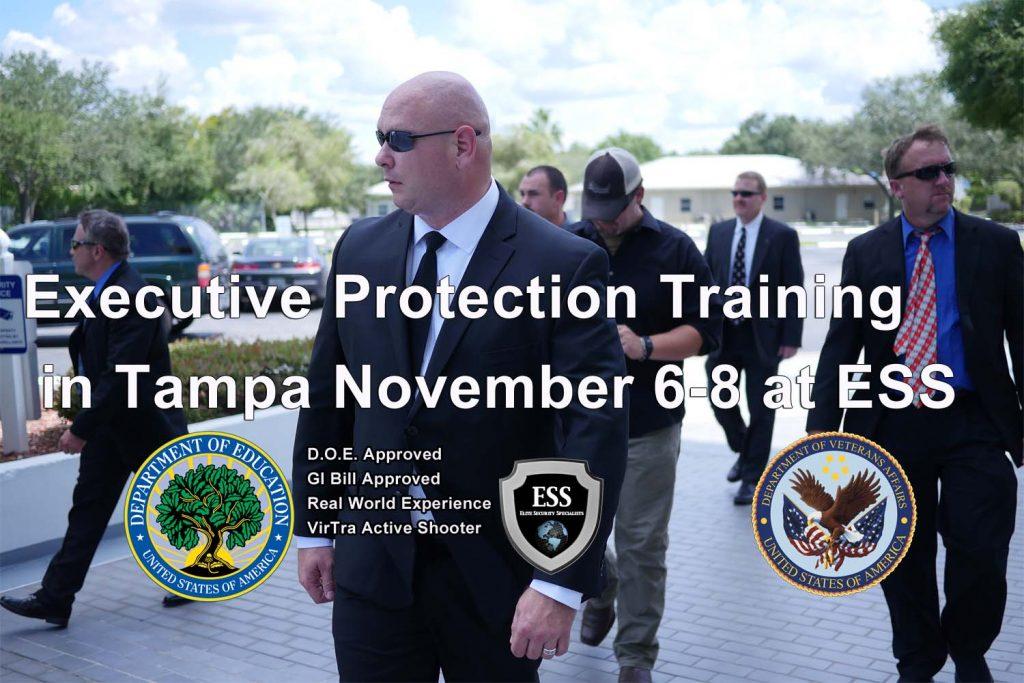 Executive Protection Training in Florida November 6-8 at ESS
