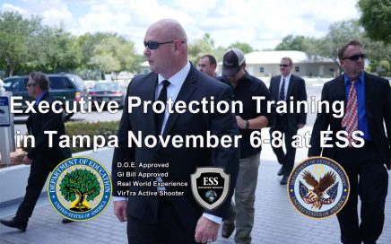 Executive Protection Training in Florida November 6-8 at ESS