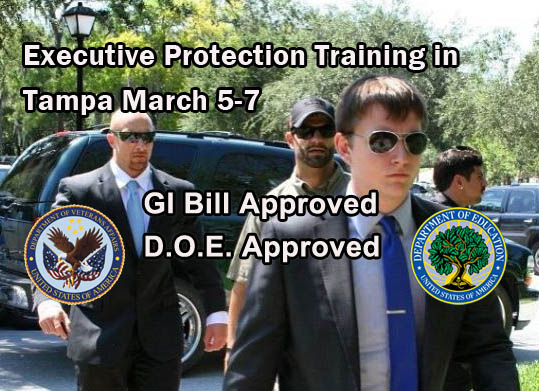 Florida Bodyguard Training in Tampa March 2018