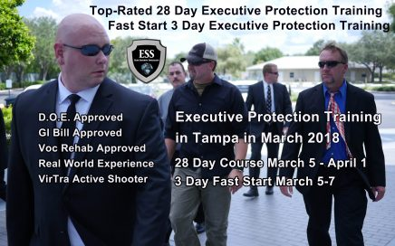 Executive Protection Training in Tampa March