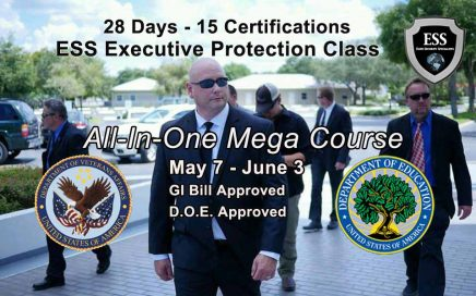 GI Bill Approved Bodyguard Training May 7-June 3