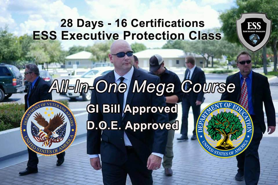GI Bill Approved Bodyguard Training - Michigan 28 Day MEGA