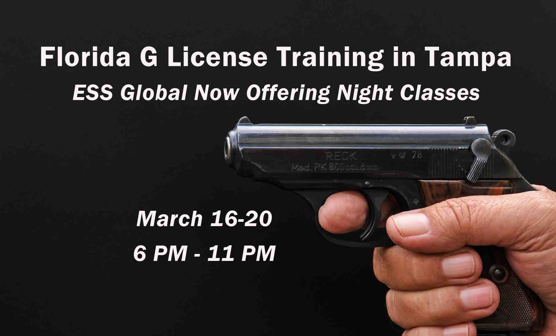 Evening G Class Training in Tampa