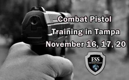 Combat Pistol Training in Tampa NOV