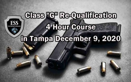 Class G Re-Qualification 4 Hour Course in Tampa DECEMBER 2020