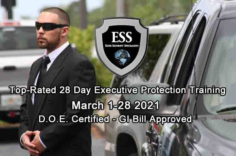GI Bill Approved Executive Protection Training March