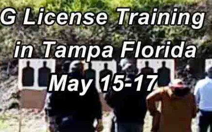Class G Security License Training in Tampa MAY Range