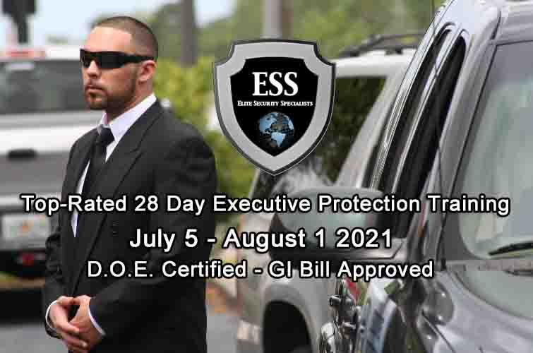 GI Bill Approved Executive Protection Training July