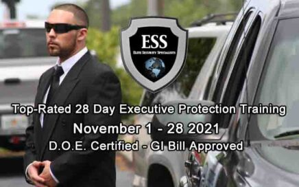 GI Bill Approved Executive Protection Training NOVEMBER