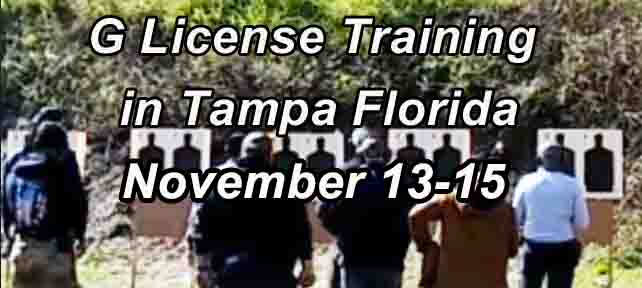 Class G Security License Training in Tampa NOV Range