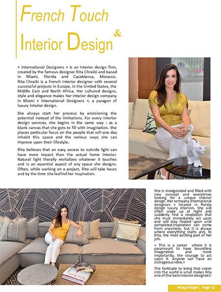 French touch interior design rita chraibi