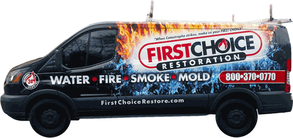 Wind and Storm Damage Restoration in Philadelphia, PA – First Choice Restoration – Company Truck Image