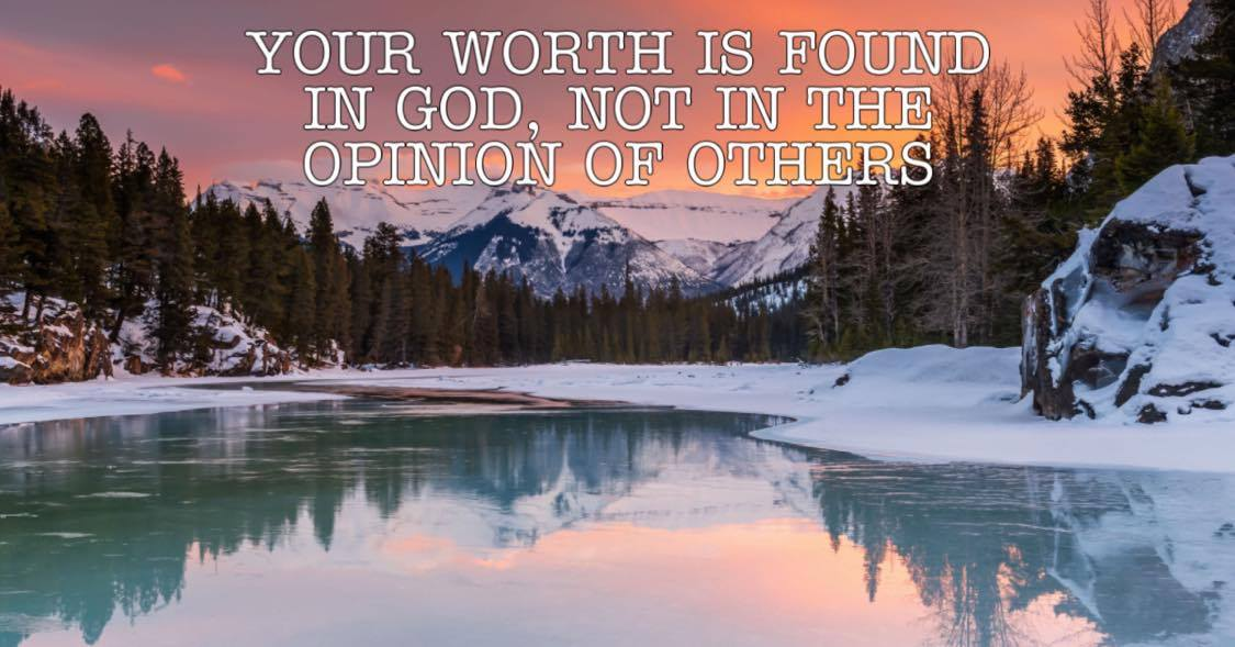 Your worth is found in God
