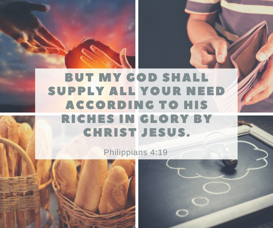 God will supply our need