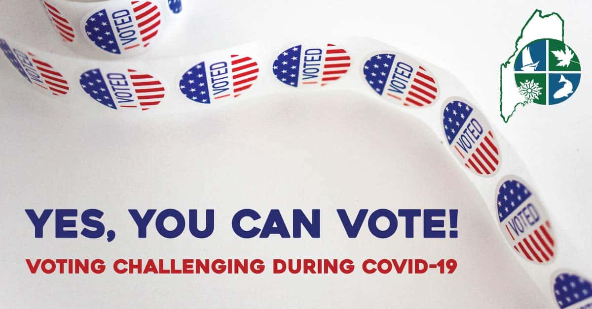 yes you can vote